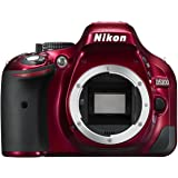 NIKON D5200 SLR Digital Body D5200 DX-Series 24.1MP SLR Camera with 3.0-Inch TFT LCD, Body Only (Red)