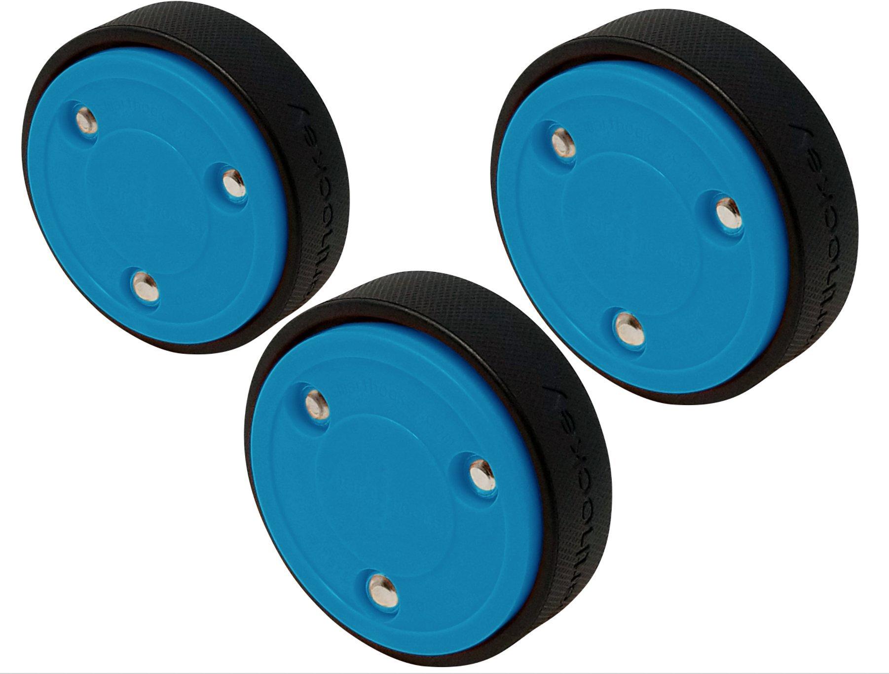 Smarthockey 4oz Slider Hockey Training Speed Puck - BLUE 3-PACK