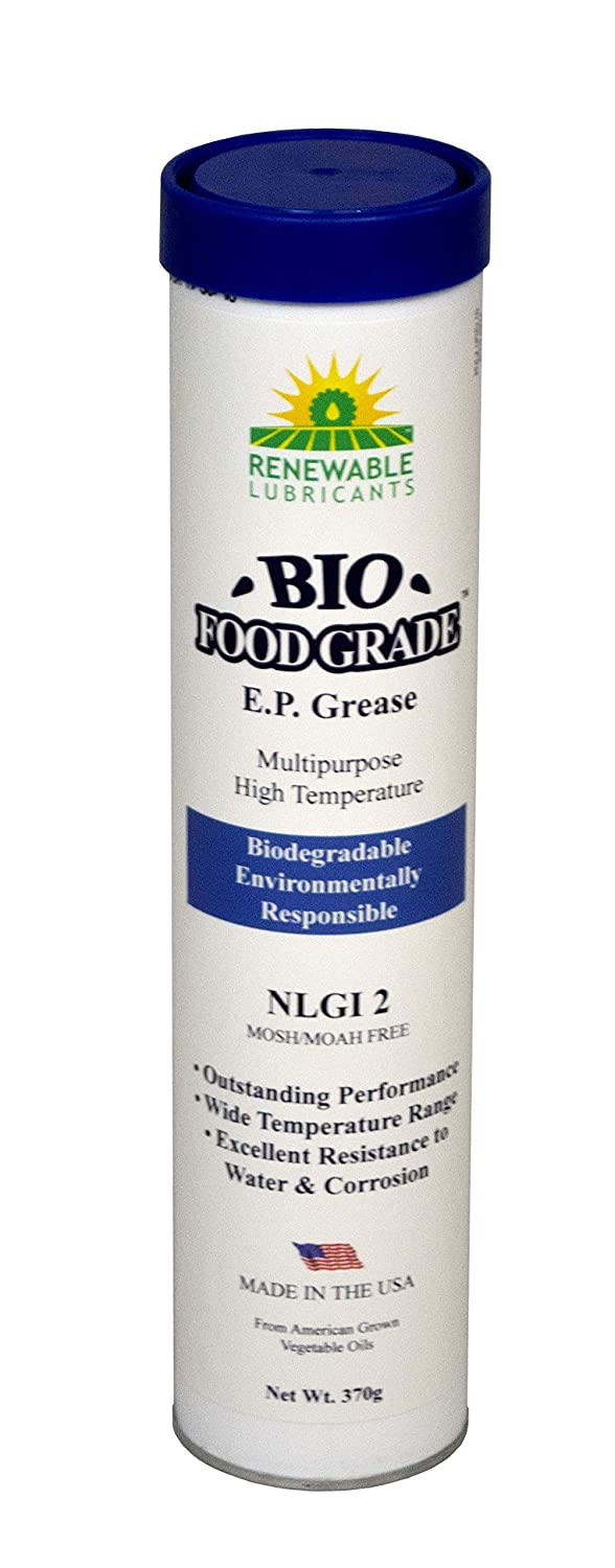Renewable Lubricants Bio-Food Grade EP NLGI 2 Grease, 14 oz Tube