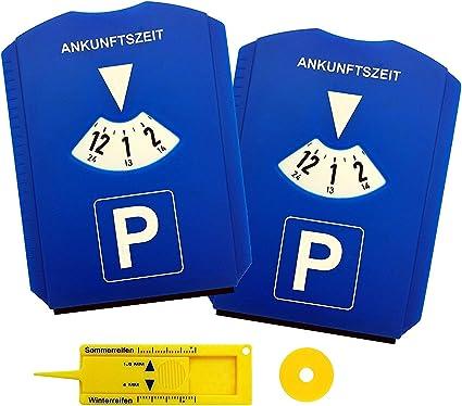 2x PARKSCHEIBE Parkuhr Einkaufswagenchip KUNSTSTOFF Eiskratzer