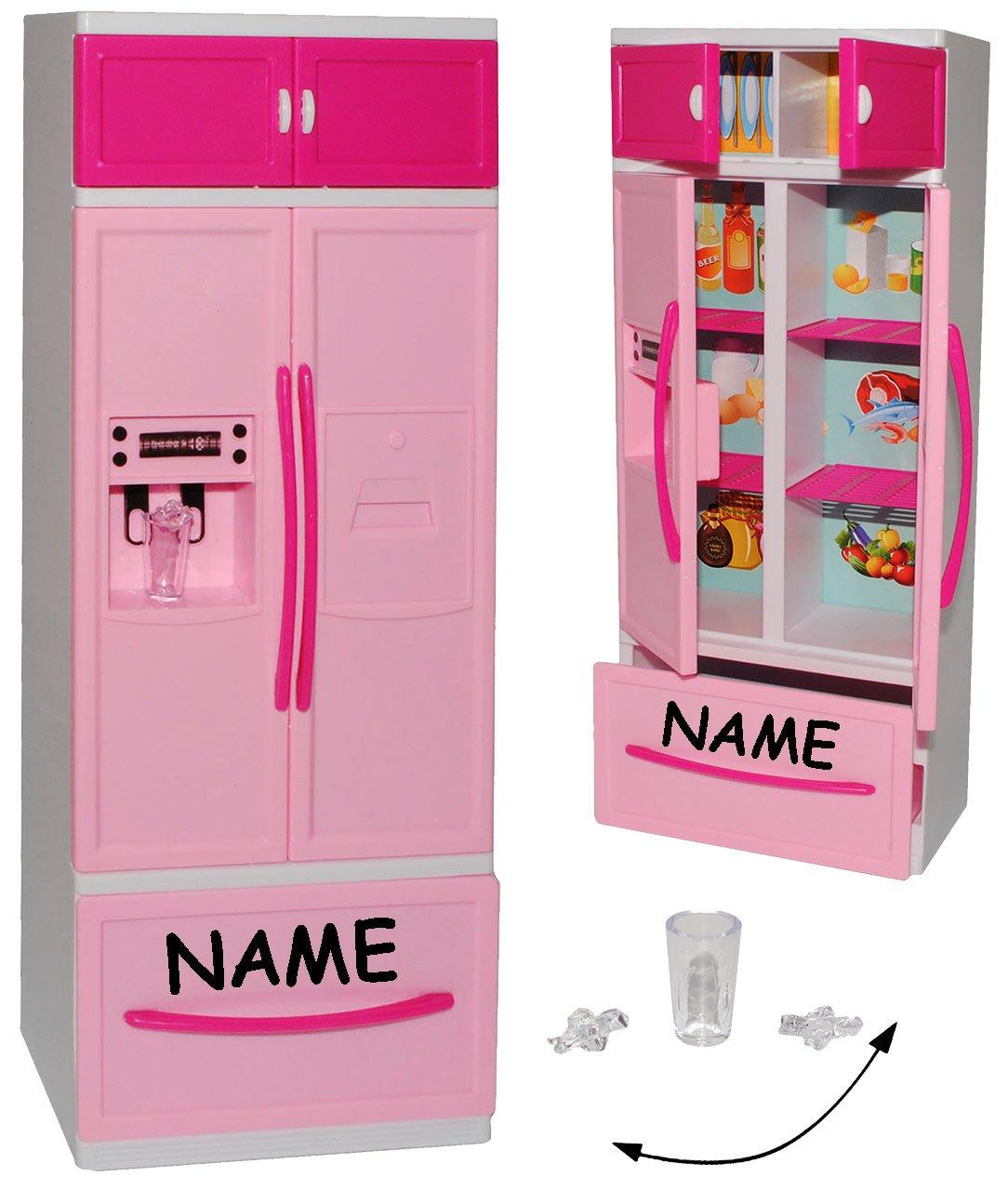Kühlschrank mit Eiswürfelspender / Gefrierschrank - incl. Name ...
