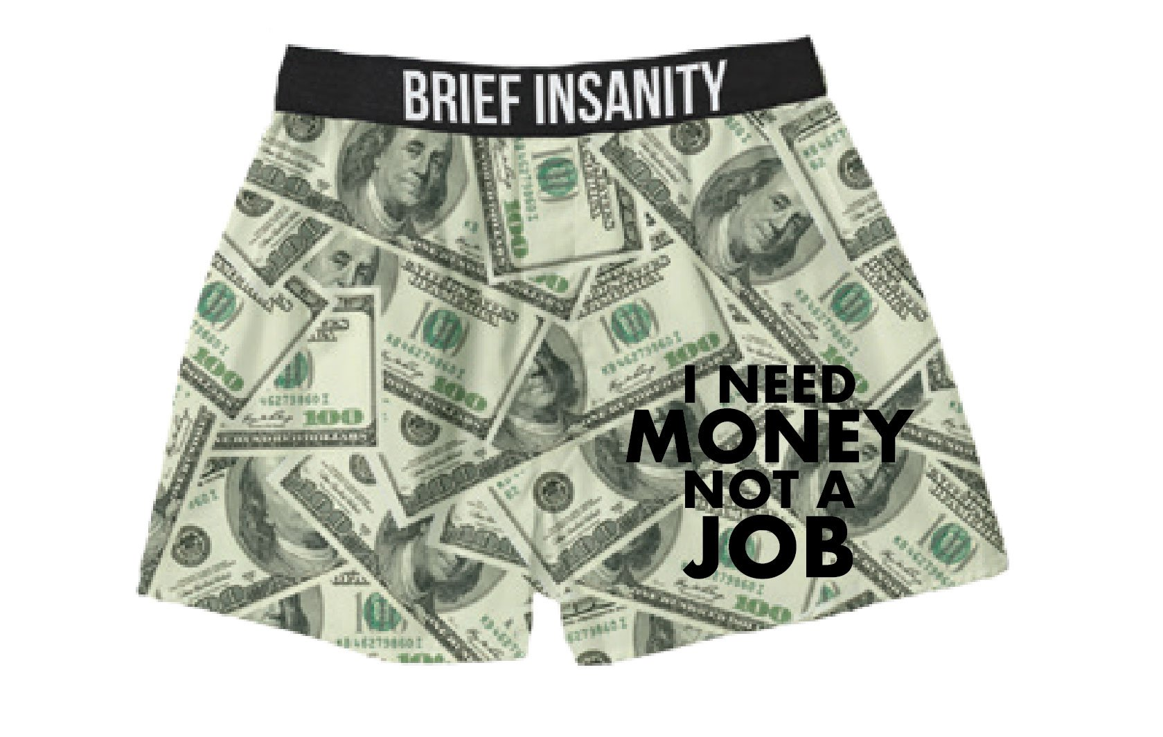 I Don't Need a Job, I Need Money Silky Funny Boxer Shorts Gifts for Men