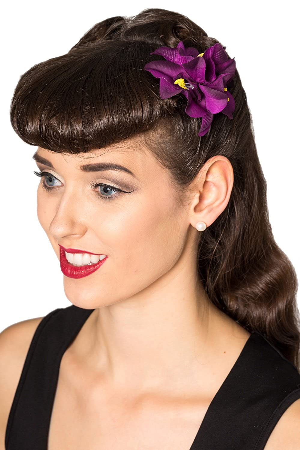 1940s Hairstyles- History of Women's Hairstyles Banned Off Duty Vintage Retro Hair Clip $3.95 AT vintagedancer.com