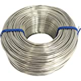 Tie Wire - (1X Rolls) of Premium Stainless Steel 18 Gauge Tie Wire - 3 1/8lb - 18 GA - Rebar Tie Wire (Stainless Steel…