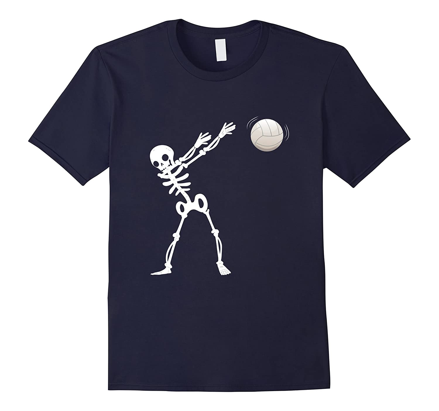 Funny Halloween Dabbing Skeleton Volleyball Shirt Gift-FL