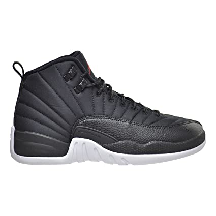 43d511d4eb24 Buy Air Jordan 12 Retro BG Black Nylon xii Youth Lifestyle Sneakers New Black  Gym Red White Online at Low Prices in India - Amazon.in