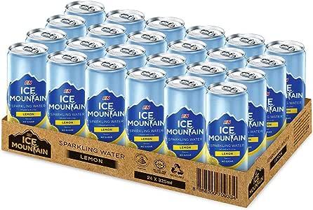 Ice Mountain Ice Mountain Sparkling Water Lemon,  325 ml  (Pack of 24)