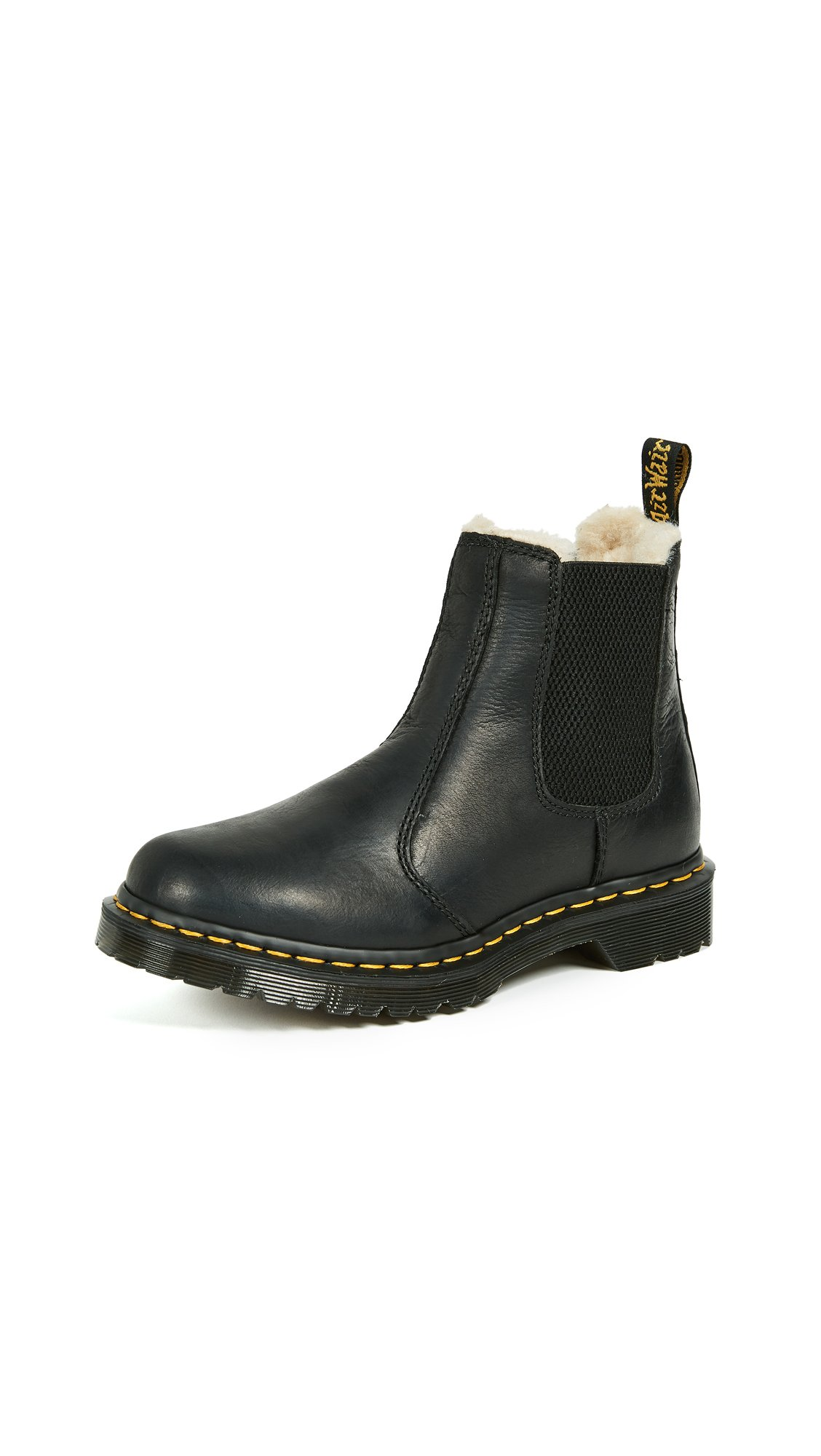 Dr. Martens Women's Leonore Burnished Wyoming Leather Fashion Boot, Black, 6 Medium UK (8 US) by Dr. Martens