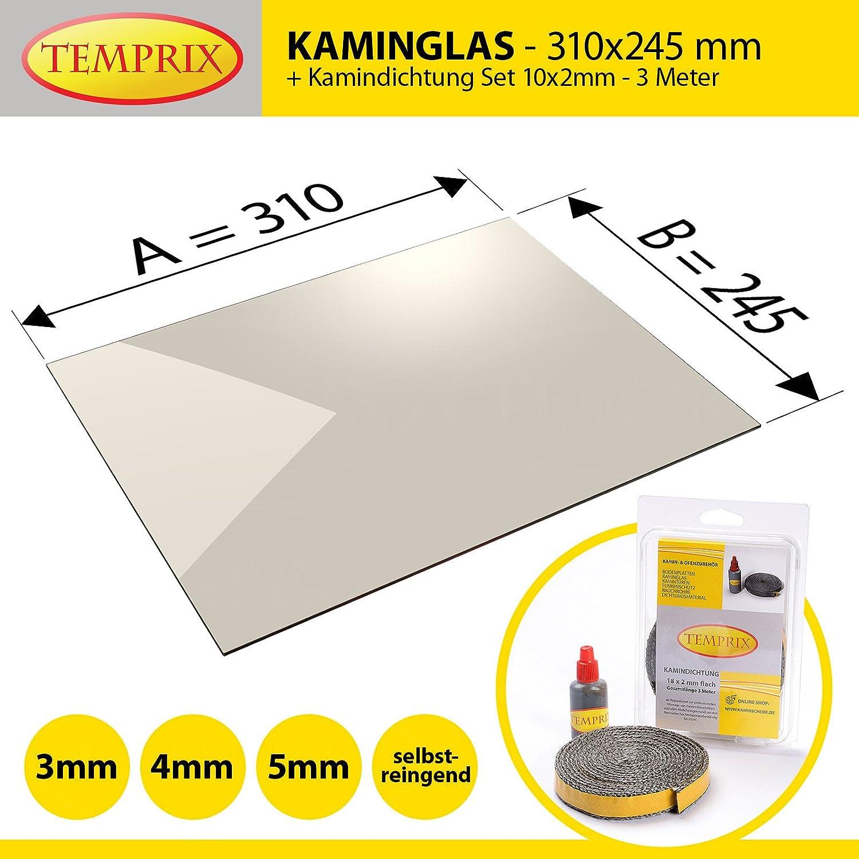 Temprix Kaminglas /& Ofenglas320x300 OfenscheibeOfen Glas auf Maß