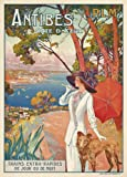 Vintage Travel FRANCE for ANTIBES IN THE COTE D'AZUR c1910 250gsm Gloss Art Card A3 Reproduction Poster