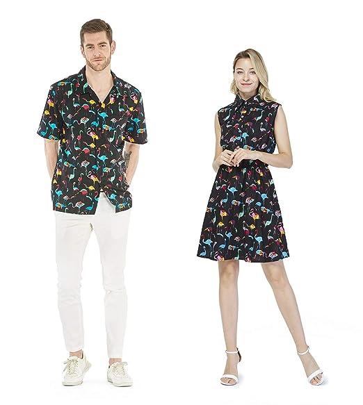 Amazon.com: Vestido a juego de camisa de crucero de Luau ...