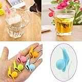 5pcs Cute Snail Shape Silicone Tea Bag Holder Cup Mug Candy Colors Gift Set New
