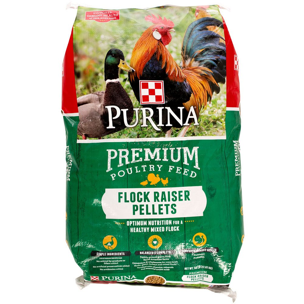 Purina Animal Nutrition Purina Flock Raiser Pellets 50lb by Purina Waggin' Train