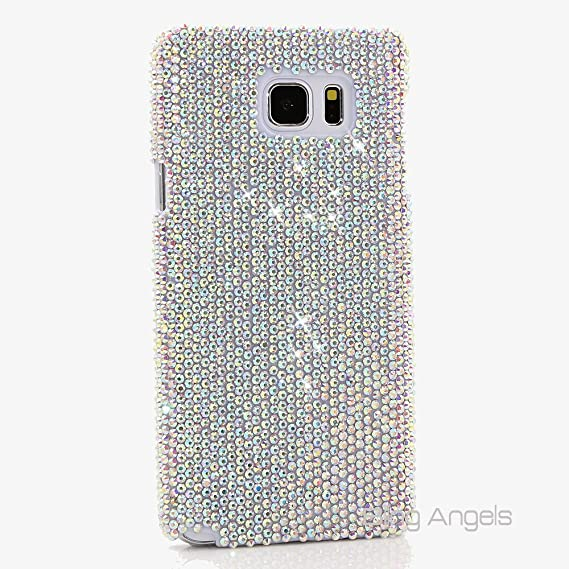 buy online 4ec6d 9a6c7 NOTE 5 Case, BlingAngels Premium Quality Luxury Bling Case Cover Crystals  Diamond Sparkle jeweled AB Clear Design Back Snap-on Hard Case for Samsung  ...