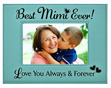 Amazoncom Gift Mimi Picture Frame Engraved Leatherette Frame