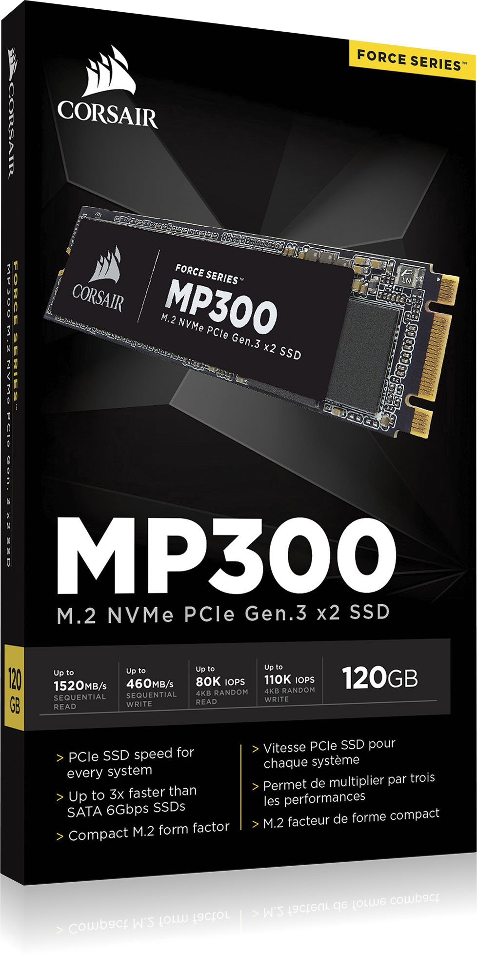 Computer_Drive_OR_Storage 7 High-speed NVMe PCI Express Gen 3 x2 Interface for speeds up to 1600MB/sec, 3x faster 6Gbps Utilizing state-of-the art, high-density 3D TLC NAND for the ideal mix of performance, endurance and value Compact M.2 2280 industry standard form factor fits directly into your notebook or motherboard
