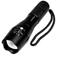 Outlite A100 Portable Ultra Bright Handheld LED Flashlight with Adjustable Focus and 5 Light Modes, Outdoor Water Resistant Torch, Powered Tactical Flashlight for Camping Hiking etc