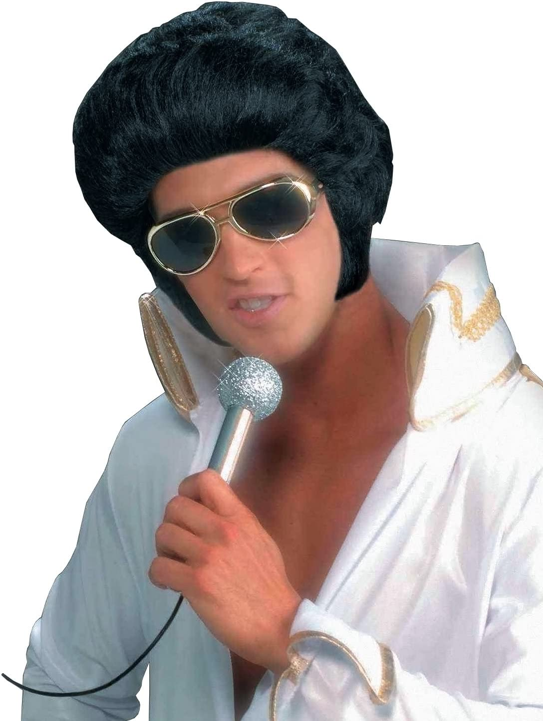 Forum Novelties Men/'s Rock N/' Roll Elvis Presley Wig Black One Size