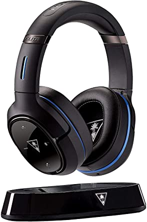 Amazon Com Turtle Beach Ear Force Elite 800 Premium Fully Wireless Gaming Headset Dts Headphone X 7 1 Surround Sound Noise Cancellation Superhuman Hearing Ps4 Ps3 And Mobile Devices Video Games