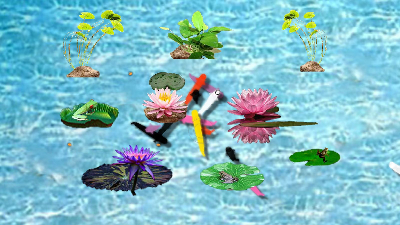 Interactive fish pond game download 11street malaysia for Koi pond game online