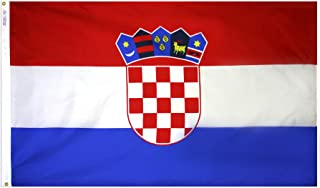 product image for Annin Flagmakers Model 191836 Croatia Flag 3x5 ft. Nylon SolarGuard Nyl-Glo 100% Made in USA to Official United Nations Design Specifications.