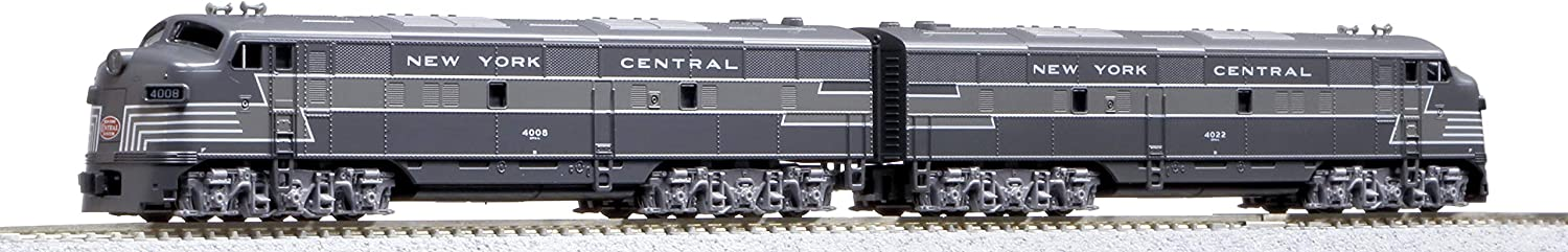 Kato USA Model Train Products N Scale EMD F7A 2 Locomotive Set - New York Central #4008, 4022 (106-0440)