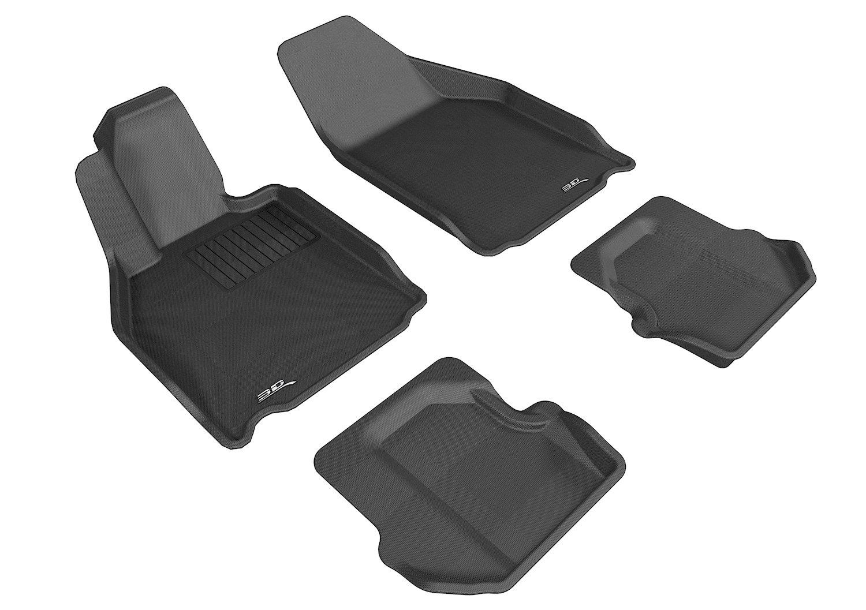 Kagu Rubber L1PO01111509 Black 3D MAXpider Front Row Custom Fit All-Weather Floor Mat for Select Porsche 911 Models