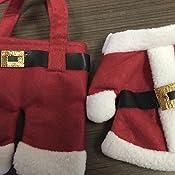 Amazon.com: Pack de 2 de tela suave color blanco y rojo ...