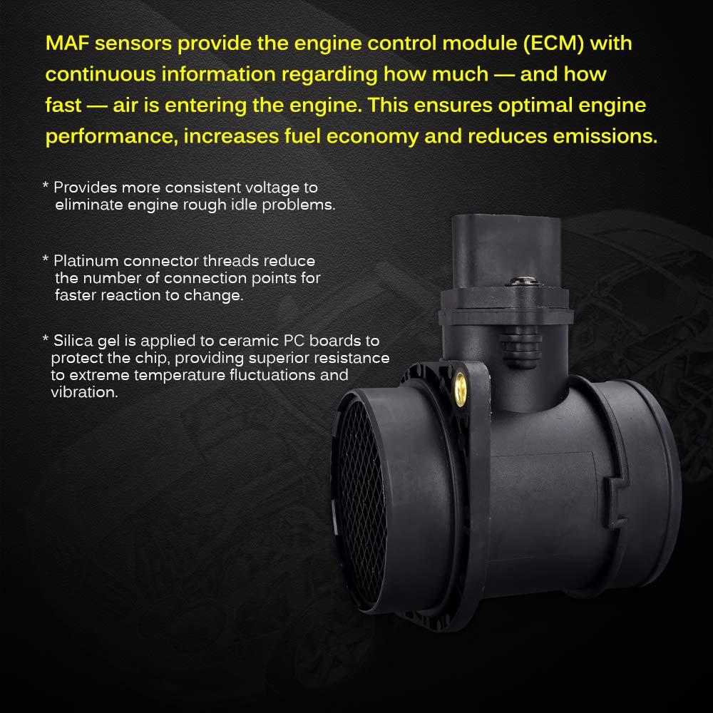 FAERSI Mass Air Flow Sensor Meter MAF Sensor 0280218063 06A906461L for Audi  A4 TT VW Golf Jetta Beetle Passat 1 8T, 02-06 Audi A4 & 01-06 TT | 00-06