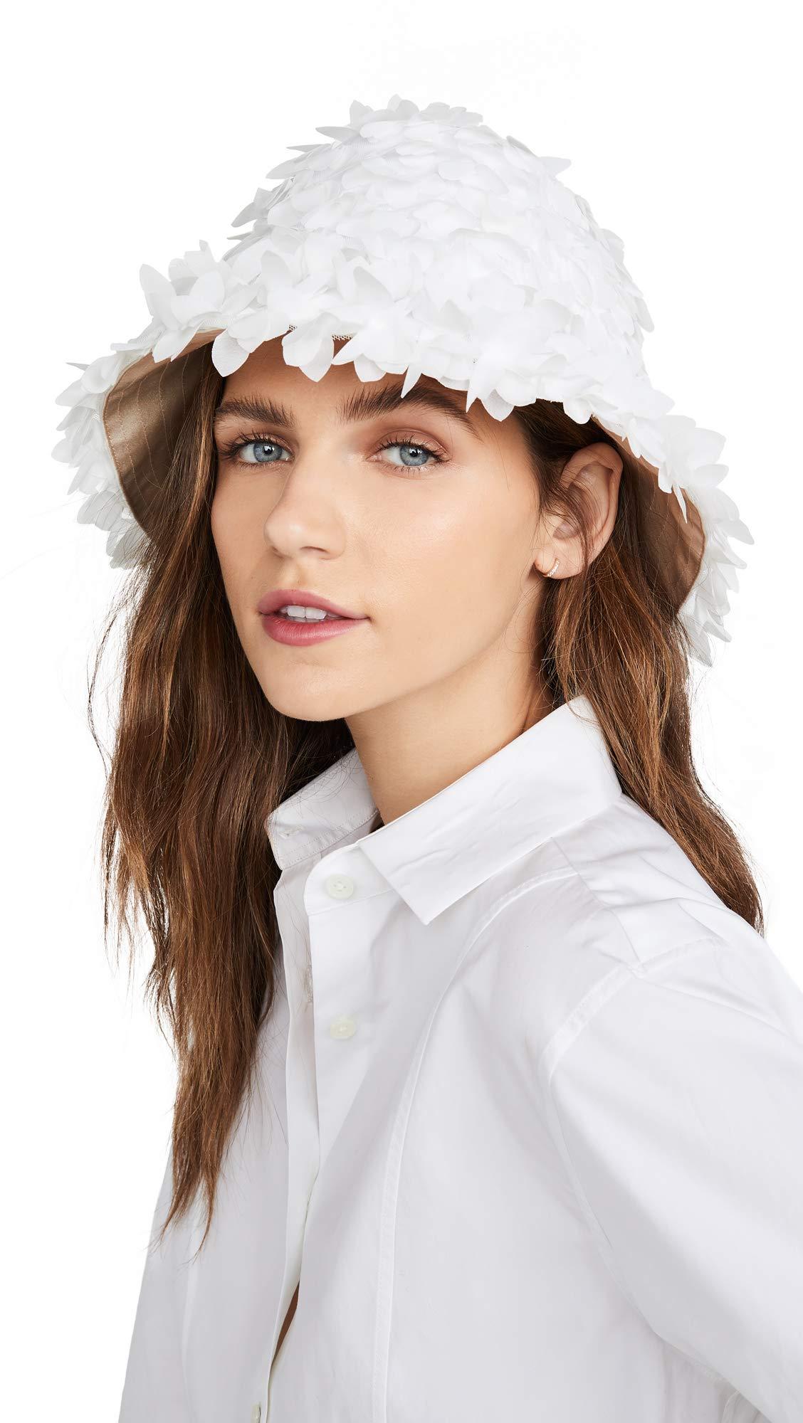 Eugenia Kim Women's Toby Bucket Hat, White, One Size