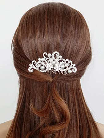 Amazon Com Aegenacess Wedding Hair Decorative Comb Side