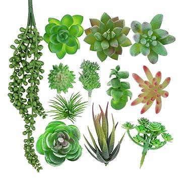 1 bunch Artificial Succulent Plant Plastic Cactus Home Decor Flower Ornament Home Decor Dried & Artificial Flowers