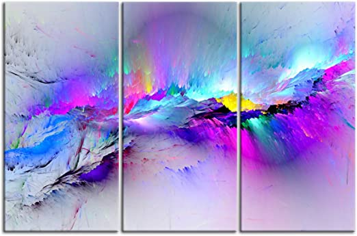 Amazon Com Yatsen Bridge Canvas Paintings Oil Painting For Living Room Home Decor Abstract Clouds Colorful Beautiful Art Wall Decoration Stretched And Framed Ready To Hang For Bedroom 24 H X 36 W Posters