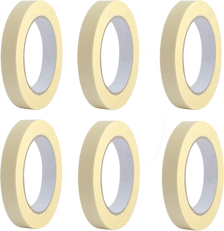 carrosserie papier peintre 60 degr/és Lot de 6 rouleaux de ruban adh/ésif pour masking tape pour peindre