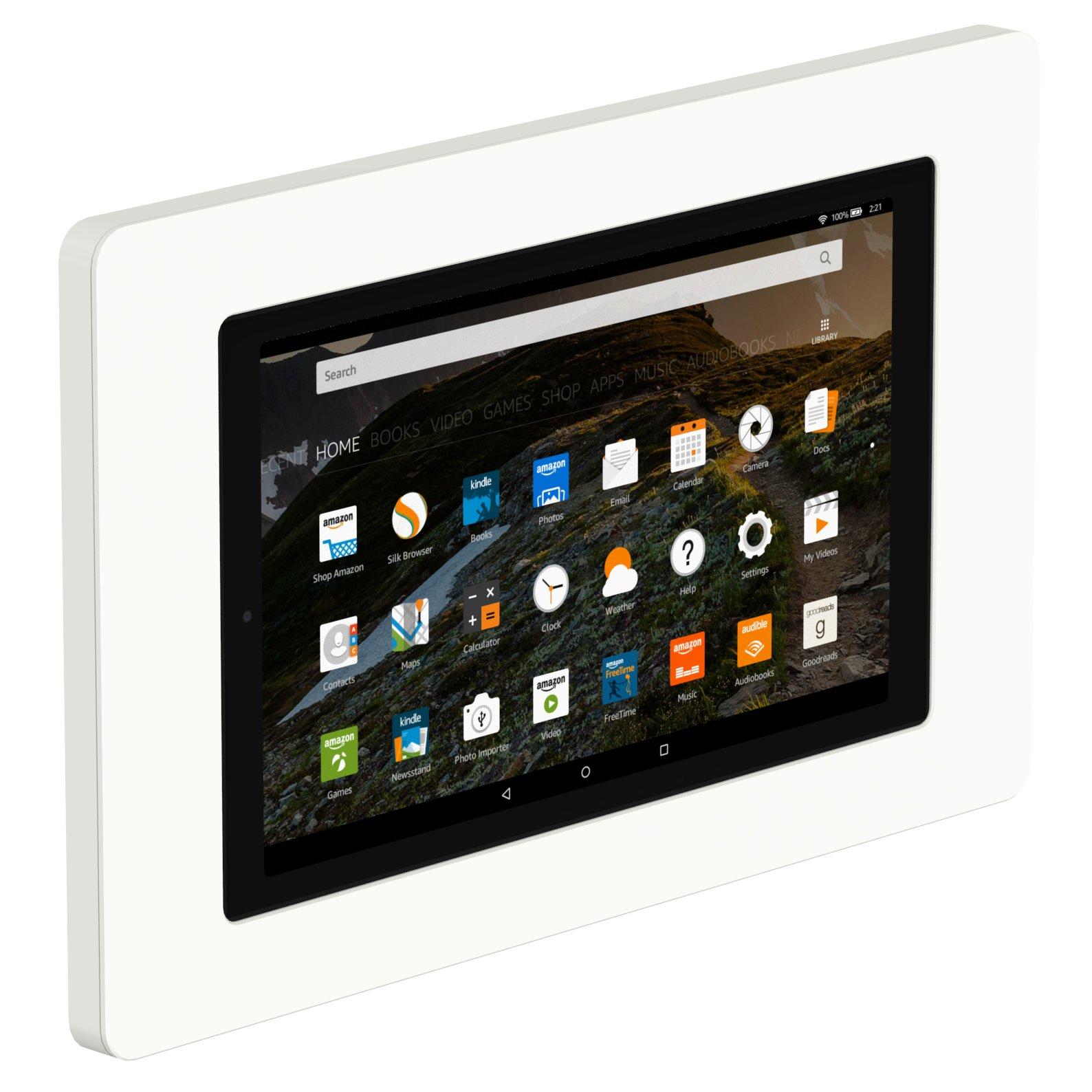 VidaMount On-Wall Tablet Mount - Amazon Fire HD10 5th Gen - White