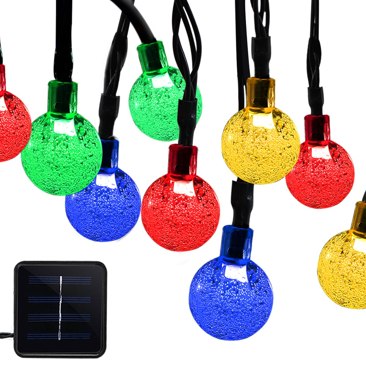 onEveryBaby 23ft 50 LED Solar String Ball Lights Outdoor Waterproof Multi-Color Garden Decor by onEveryBaby