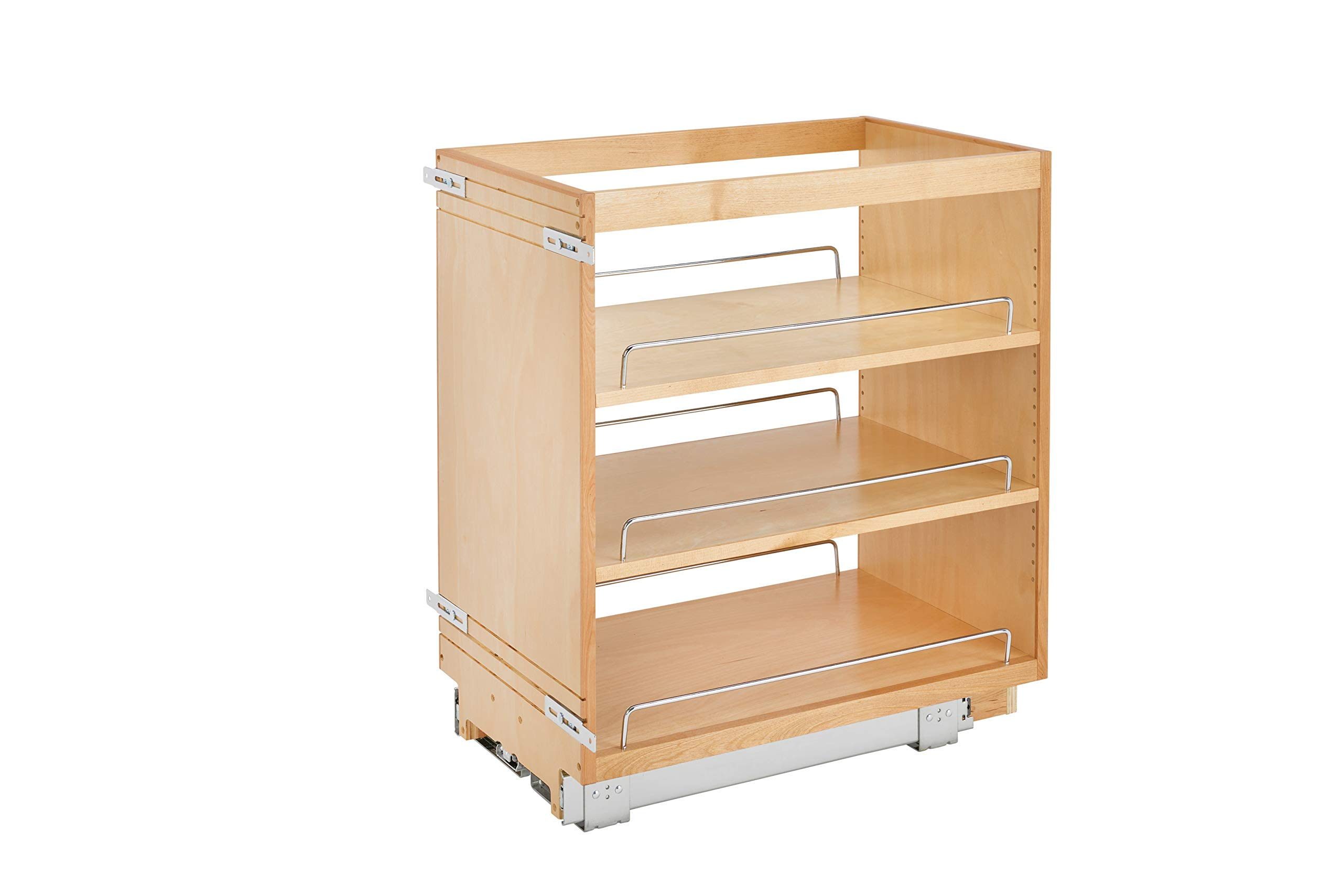Rev-A-Shelf - 448-BC-14C - 14 in. Pull-Out Wood Base Cabinet Organizer by Rev-A-Shelf