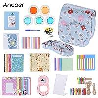 Andoer - 14 in 1 Accessori Kit per Fujifilm Instax Mini 8/8 + / 8s w / Custodia per Fotocamera / Cinghia / Sticker / Selfie Lens / 5 * Filtro Colorato / Album / 3 Tipi Tabella Film Frame