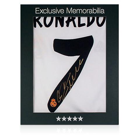 Firmada por Cristiano Ronaldo camiseta del Real Madrid de fútbol ...