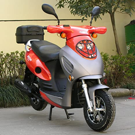 dongfang Boom 50 cc ciclomotor scooter bd50qt-2 a con 10 inch ruedas trasera tronco