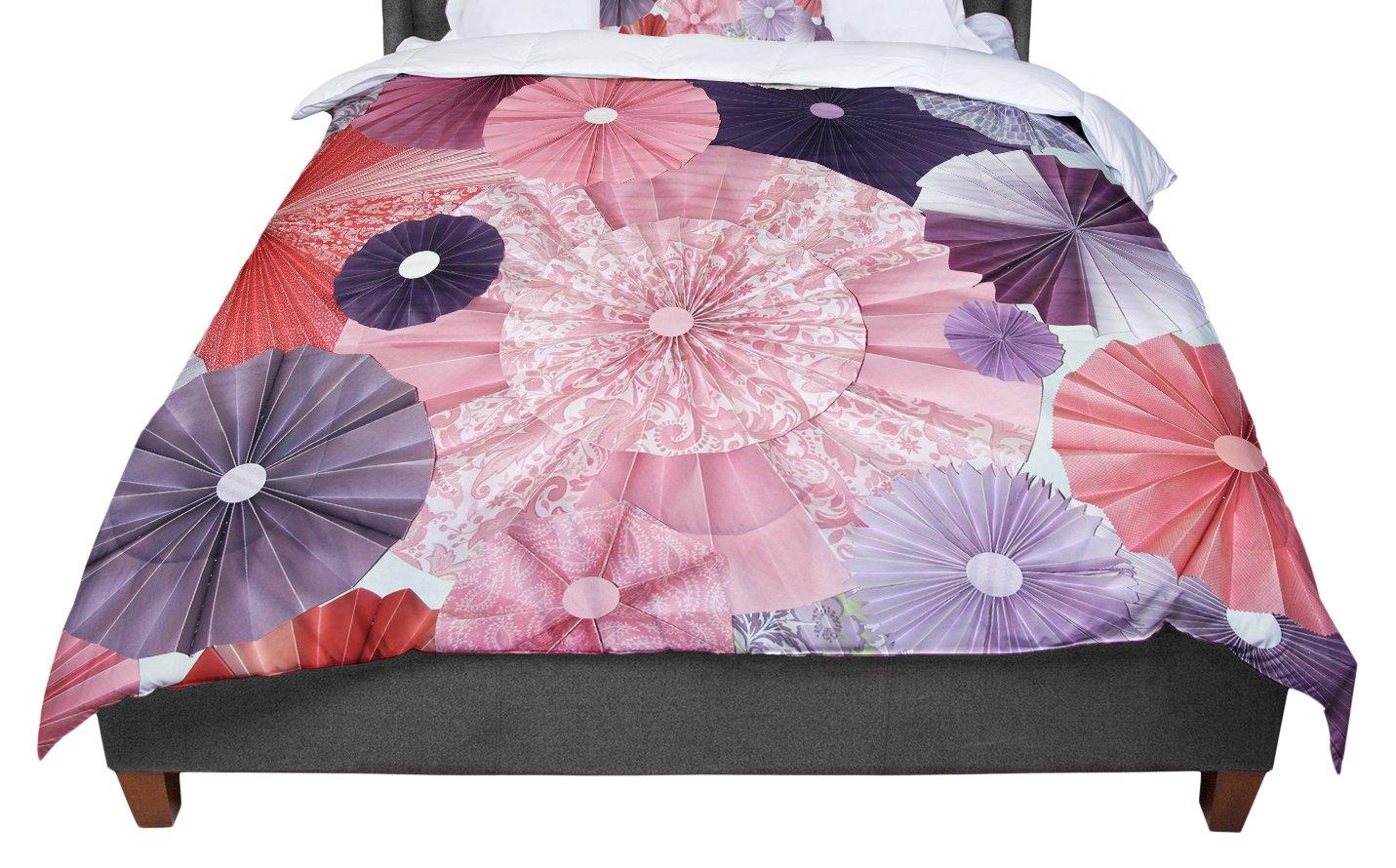 KESS InHouse Heidi Jennings The Royal Court Pink Purple Twin Comforter 68 X 88