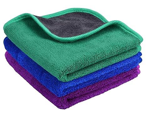 Mayouth - Toallas de Microfibra para Limpieza de Coches, superabsorbentes, de Felpa, Gruesas