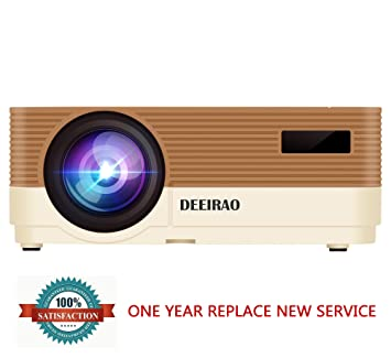 Deeirao LED Home Cinema Proyector de Video HDMI USB VGA Soporte ...