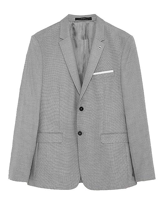 vasta selezione prezzo più basso primo sguardo Zara - Giacca da Abito - Uomo Grigio 48: Amazon.it: Abbigliamento