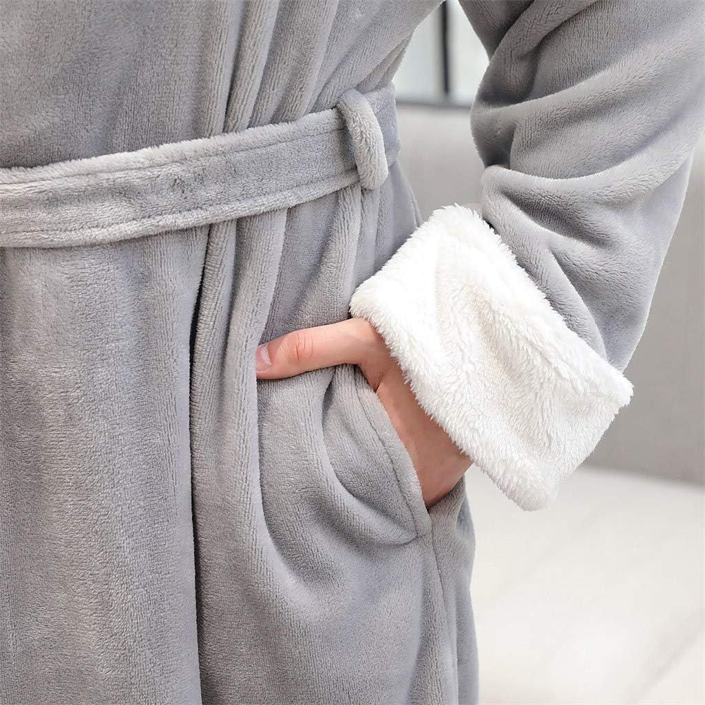 Peignoir Femme Homme Polaire Hiver Chaud /ÉPais Peignoir Couples Doux Pas Cher A La Mode Veste Robe De Chambre Matelass/éE Longue Pyjama