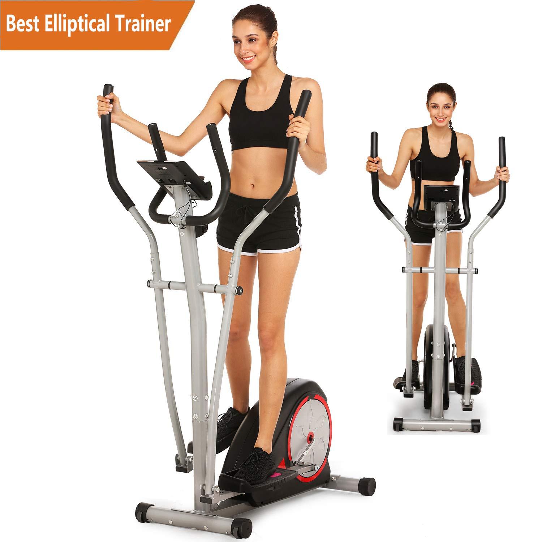 ncient Elliptical Trainer Magnetic Control Smooth Quiet Elliptical Machine Trainer,Top Levels Elliptical Trainer (Black-Upgrade.)