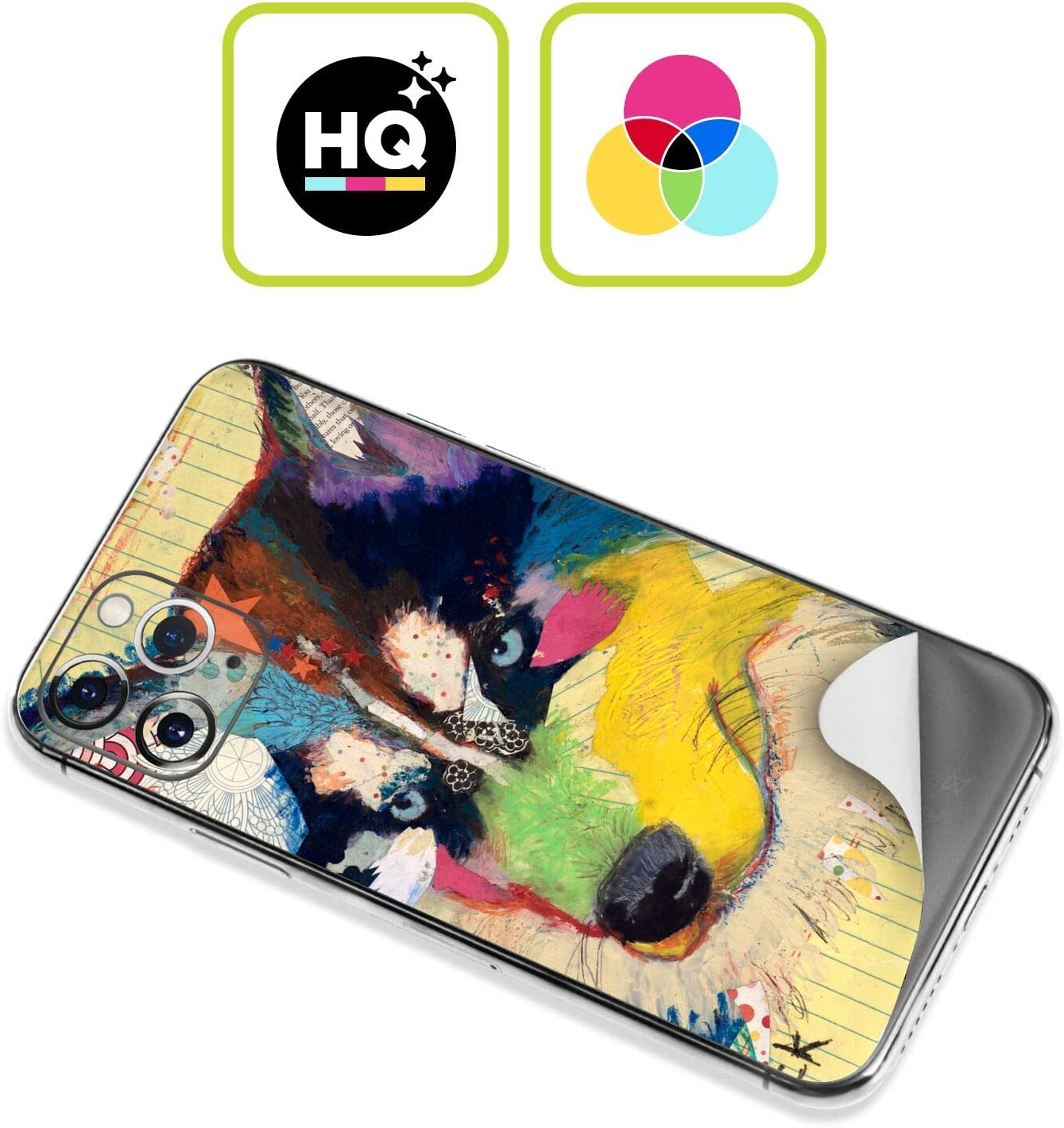 Head Case Designs Official Michel Keck Husky Dogs Glossy Vinyl Sticker Skin Decal Cover Compatible for Apple iPhone 7 Plus//iPhone 8 Plus
