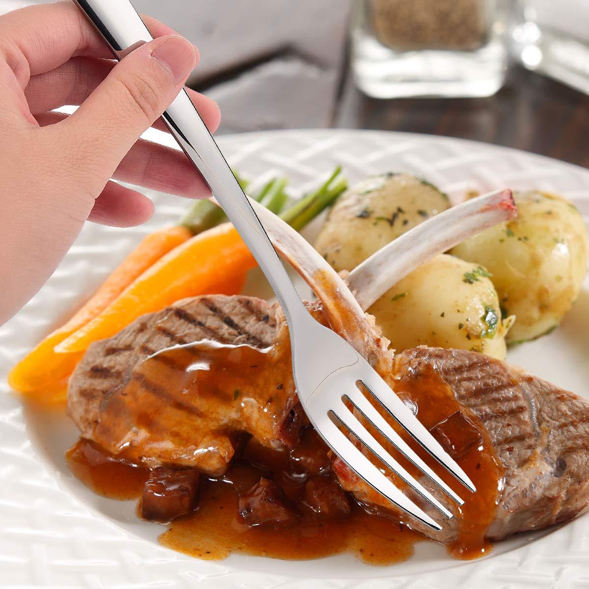 8 inches /… PINK Elegant Life 12-Piece Stainless Steel Forks Set Mirror Polished Modern Flatware Cutlery Forks for Kitchen Dinner Forks