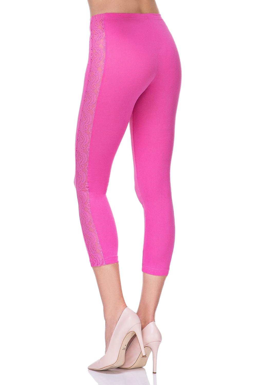 Description du produit. Futuro Fashion Court 3  4 Longueur Leggings Coton  avec Dentelle Actif Danse Pantalon Lpl34 631ccc63e7ad