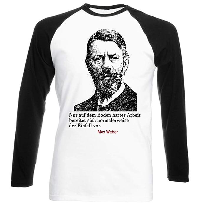 Teesquare1st Mens Max Weber Arbeit Zitate Black Long
